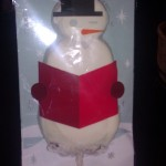I LOVE the Starbucks holiday cookies and this one comes on a stick! Isn't he cute??