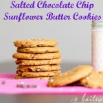 Vegan Salted Chocolate Chip Sunflower Butter Cookies via Ari's Menu