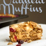 Peanut Butter Filled Oatmeal Muffins via Ari's Menu