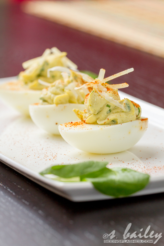 Spinach Artichoke Deviled Eggs | Ari's Menu
