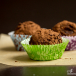 Dark Chocolate Sunflower Butter Truffles #vegan #glutenfree
