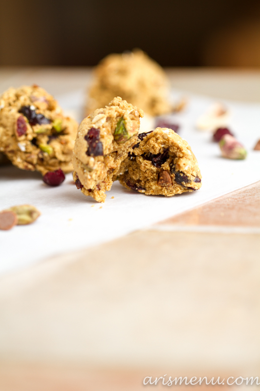 Cranberry Pistachio Cinnamon Chip Cookies