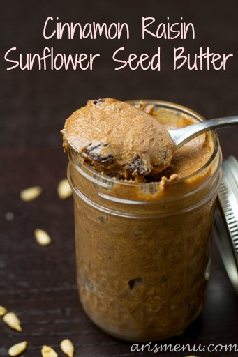 Cinnamon Raisin Sunflower Seed Butter #vegan #glutenfree.jpg