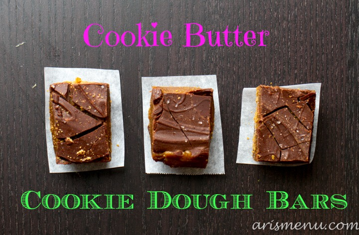 Cookie Butter Cookie Dough Bars #vegan