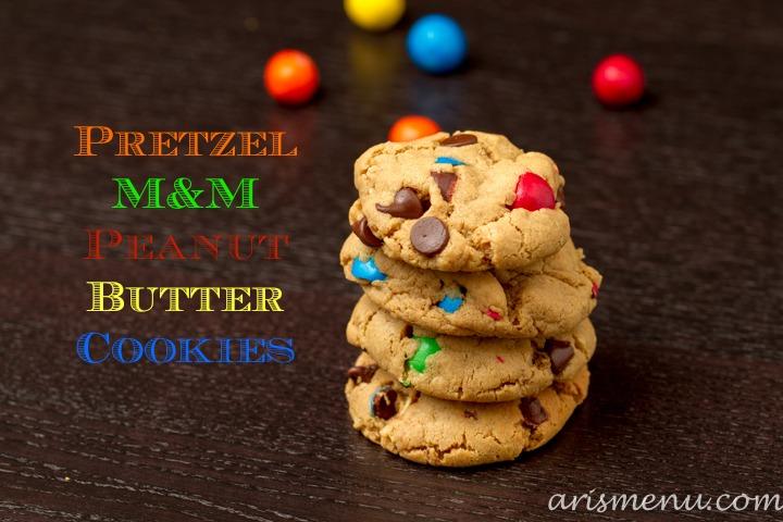 Pretzel M&M Peanut Butter Cookies