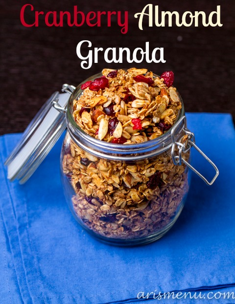 Cranberry Almond Granola #vegan #glutenfree.jpg