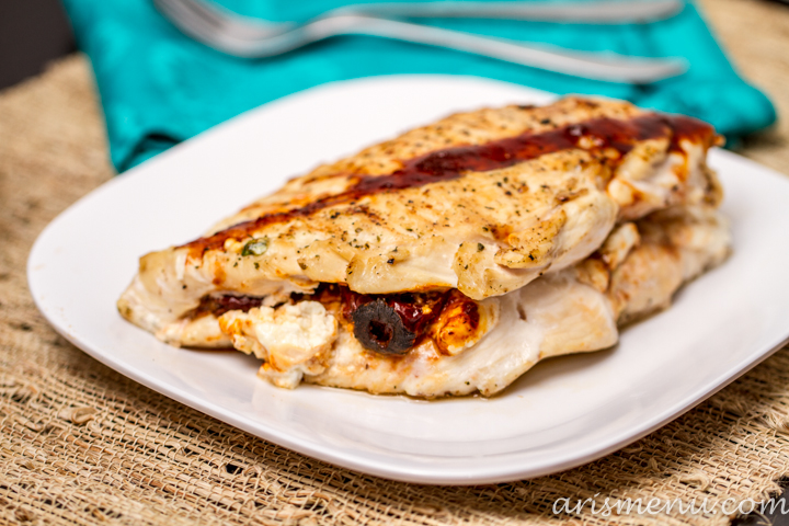 3 Ingredient Chipotle Goat Cheese Stuffed Chicken #glutenfree