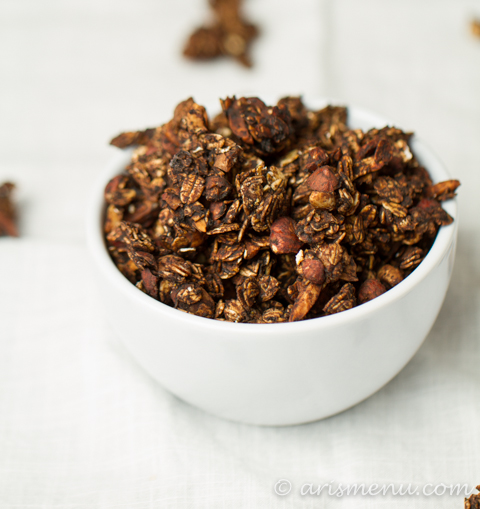 """Nutella"" Granola #vegan #glutenfree via arismenu.com"
