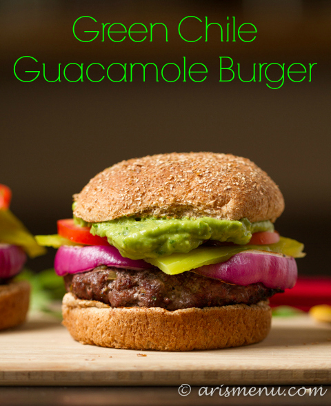 Green Chile Guacamole Burger