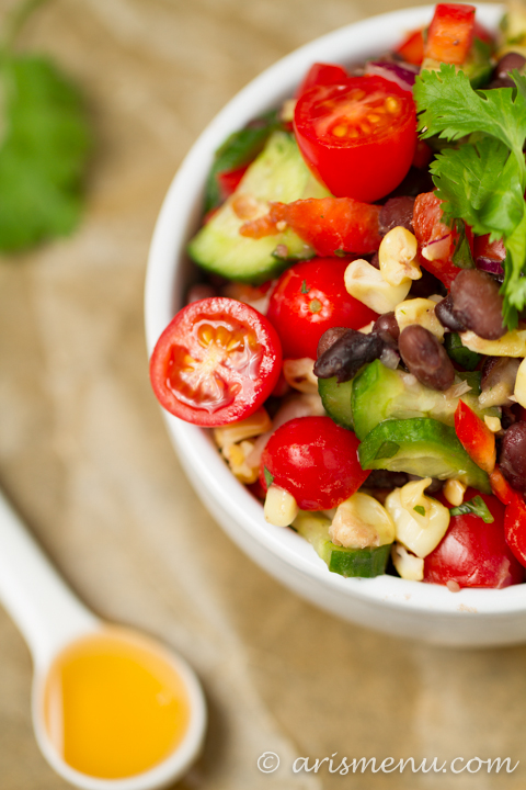 sted Corn Black Bean Salad #vegan #glutenfree