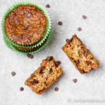 Chocolate Chip Zucchini Almond Meal Muffins #vegan #glutenfree