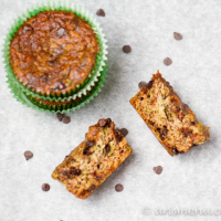 Chocolate Chip Zucchini Almond Meal Muffins