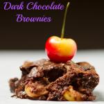 Bourbon Cherry Dark Chocolate Brownies
