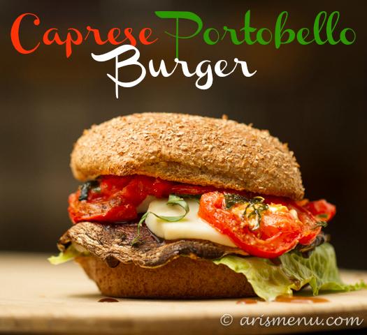 Caprese Portobello Burger