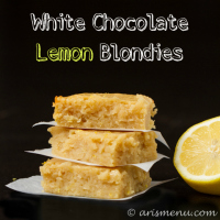 White Chocolate Lemon Blondies