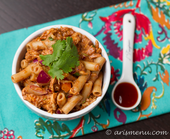 BBQ Chicken Pasta Salad #glutenfree