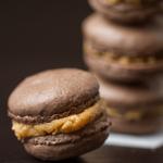 Peanut Butter Cup Macarons #glutenfree
