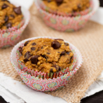 Pumpkin Banana Chocolate Chip Muffins #glutenfree #vegan