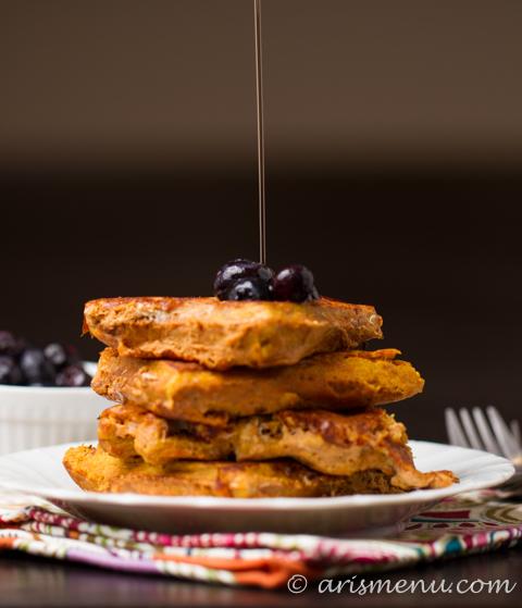 Pumpkin Waffle French Toast #glutenfree