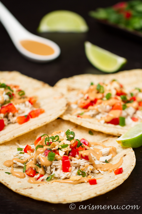 Thai Chicken Tacos -- A healthy, bold and flavorful weeknight meal that comes together in minutes!