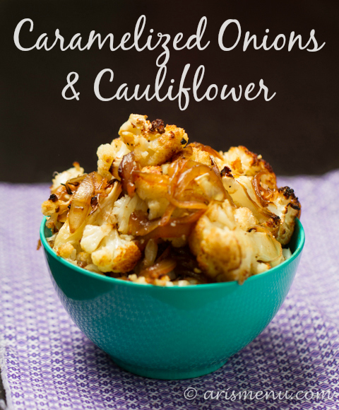 Caramelized Onions & Cauliflower #vegan #glutenfree