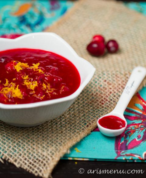 Orange Cranberry Sauce #vegan #glutenfree #thanksgiving