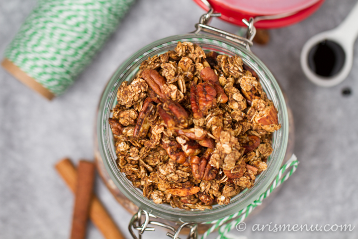 Gingerbread Granola #vegan #glutenfree