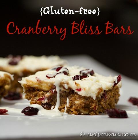 Gluten-free Cranberry Bliss Bars