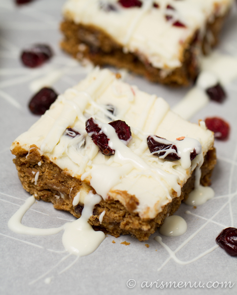 Gluten-free Cranberry Bliss Bars