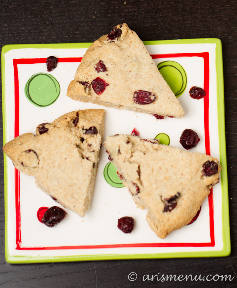 White Chocolate Cranberry Scones {gluten-free}