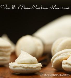 Vanilla Bean Cashew Macarons