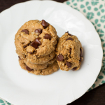Peanut Butter Oatmeal Chocolate Chip Cookies No flour, butter or oil!