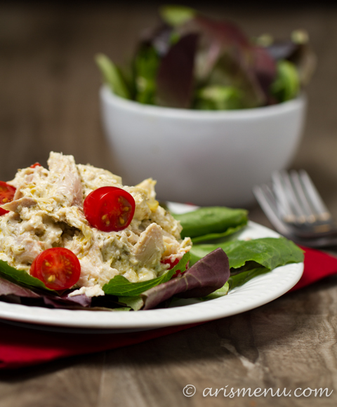 Pesto Chicken Salad: Easy, healthy and mayo-free!