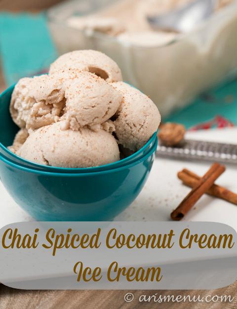 Chai Spiced Coconut Cream Ice Cream: Rich, creamy, vegan, gluten-free & paleo!