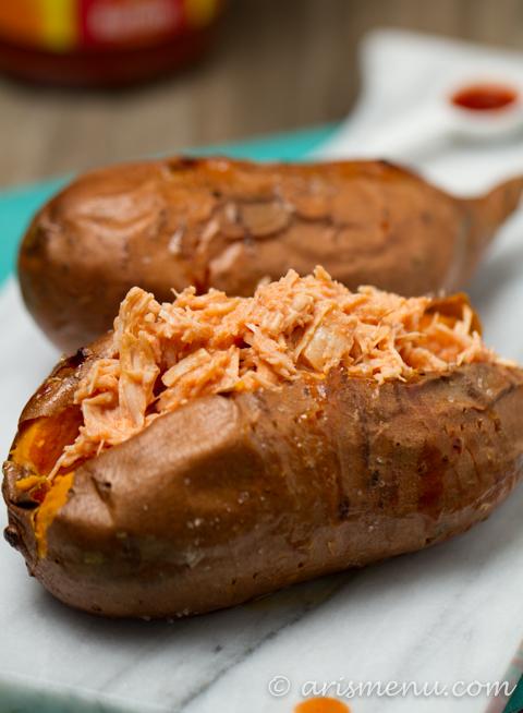 Buffalo Chicken Stuffed Sweet PotatoesAris Menu