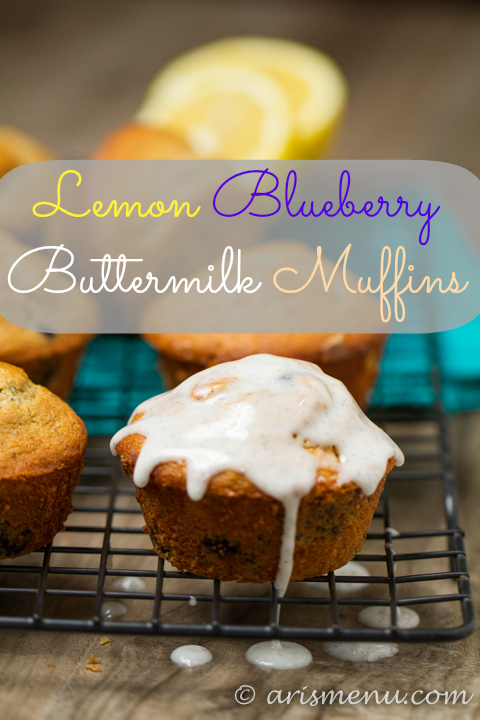 Lemon Blueberry Buttermilk Muffins.: A perfect summer breakfast. Light, healthy & gluten-free.