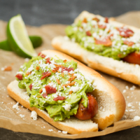 Spicy Bacon Guacamole Dogs