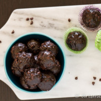 Almond Butter Chocolate Chip Mocha Bites {The Recipe ReDux}