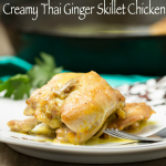Creamy Thai Ginger Skillet Chicken: You will love all of the bold flavor this one skillet dish brings!