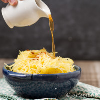 Parmesan Garlic Brown Butter Spaghetti Squash: The ultimate healthy comfort side dish!