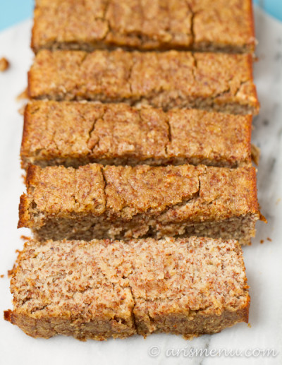 Paleo Banana Bread: Ultra soft and tender, sweetened with maple syrup