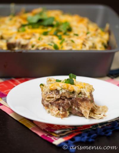 Chicken Enchilada Casserole: Easy, cheesy and delicious!