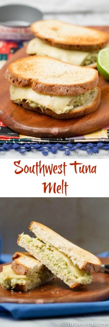 Southwest Tuna Melt: Take your regular sandwich to the next level with this bold, spicy and healthy southwest tuna melt!