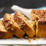 Cinnamon Apple Bread: Ultra soft and tender quick bread loaded with two layer of apples and cinnamon sugar for the perfect fall treat. Shhh: It's secretly healthy!